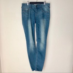 Free People straight leg light wash denim jeans